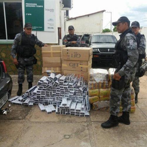 Homem é preso com 700 maços de cigarros avaliados em R$ 7 mil