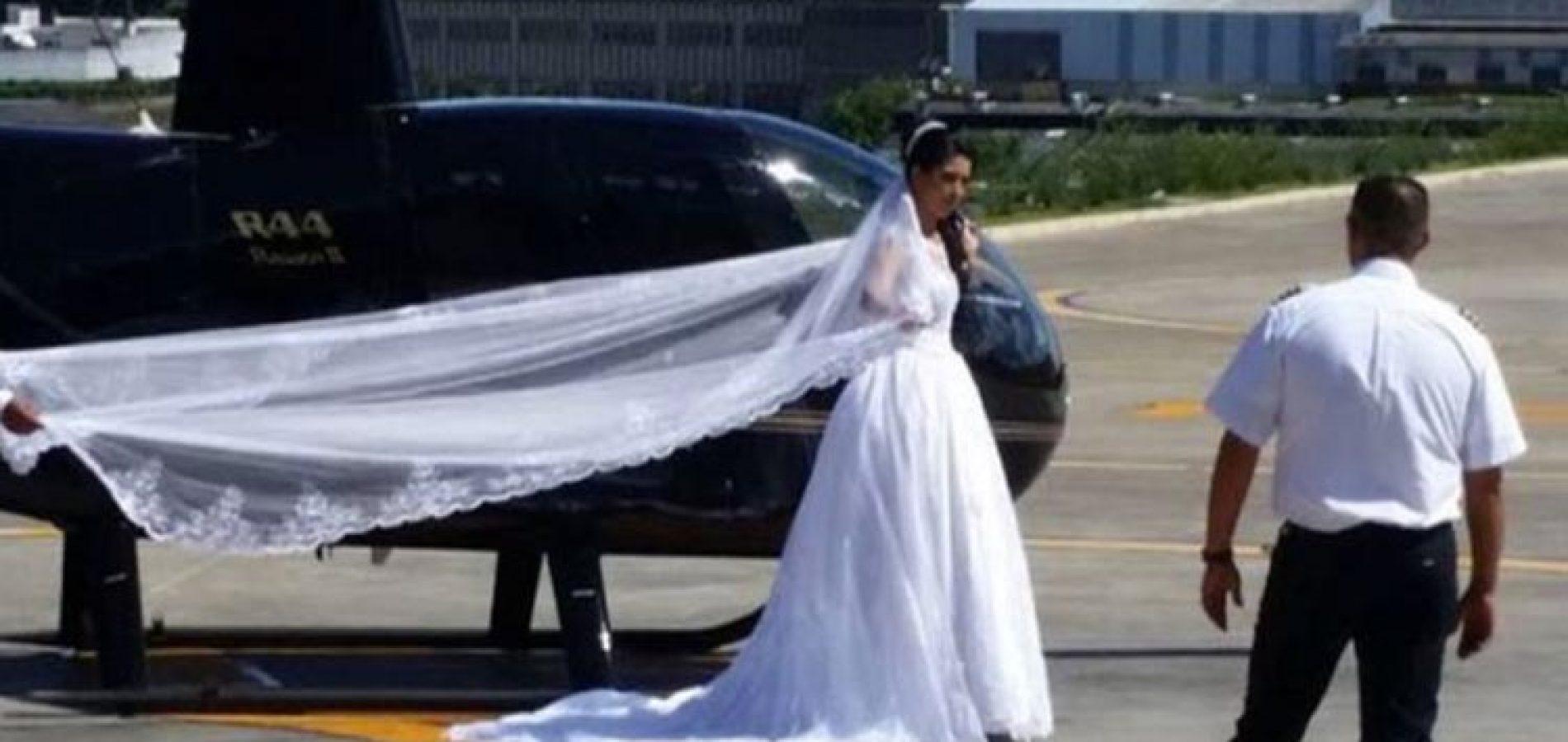 Noiva que seguia para casamento morre em queda de helicóptero