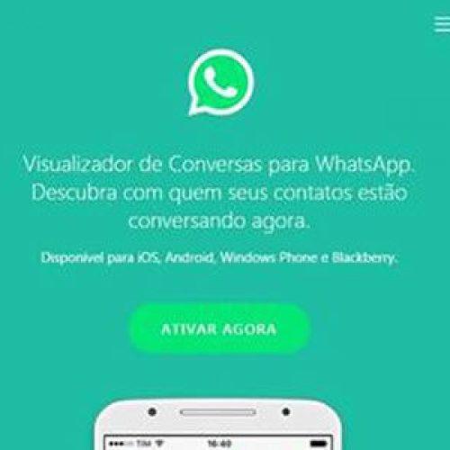 Novo golpe no whatsapp: visualizador de conversa de contatos