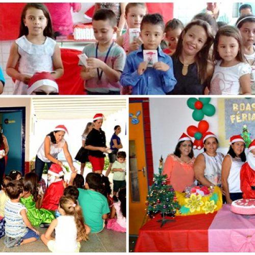 Secretaria de Educação encerra em clima de natal e confraternização ano letivo nas escolas de educação infantil em Vila Nova