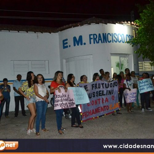 JAICÓS | Comunidade realiza mobilização contra fechamento da escola Frutoso Jusselino