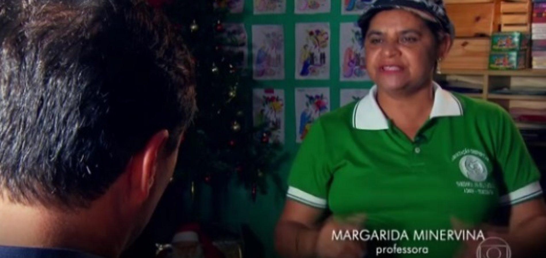 Faxineira de São Julião que virou professora em Brasília é destaque no 'Fantástico' da Globo; assista!