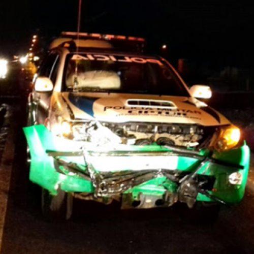 Acidente durante perseguição deixa policial militar ferido na BR-343