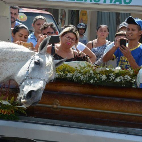 Cavalo comove família de vaqueiro morto ao 'se despedir' do dono na Paraíba