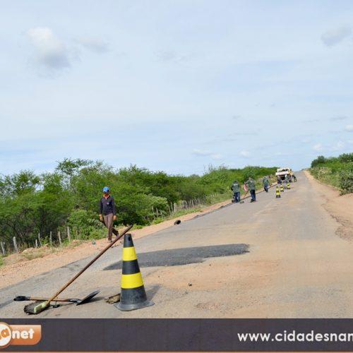 Governo conclui a 1ª etapa da recuperação da PI 243, entre Jaicós e Belém