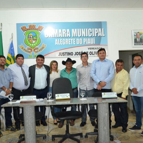 Câmara Municipal de Alegrete do Piauí abre o ano legislativo com a presença do prefeito Márcio Alencar