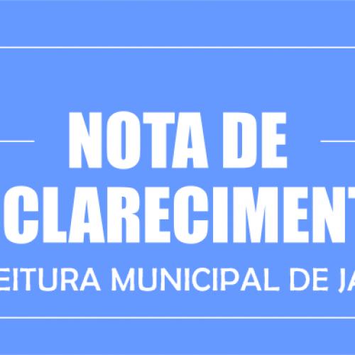 Nota de Esclarecimento da Prefeitura Municipal de Jaicós