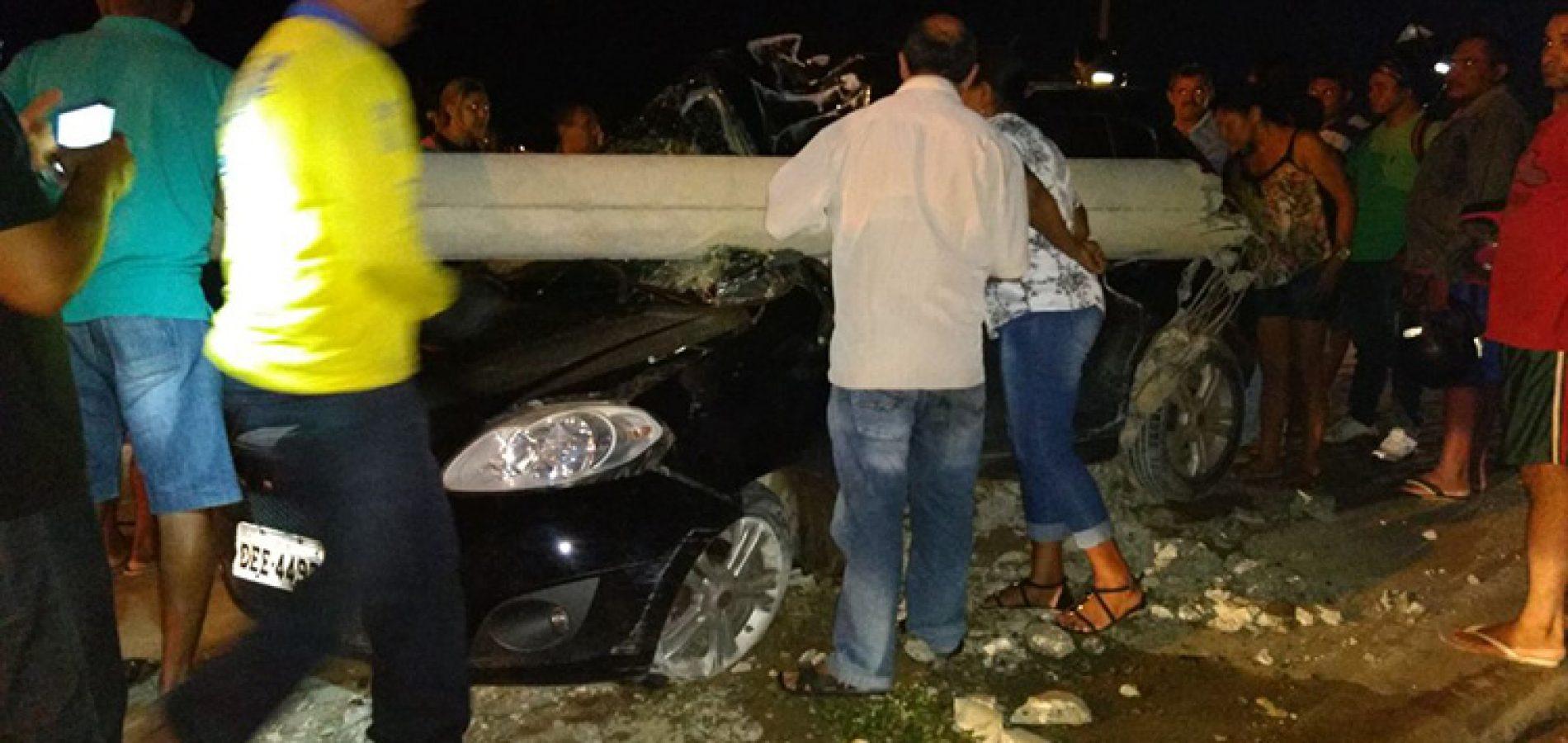 Jovem colide em poste e morre após sair do velório da avó no Piauí