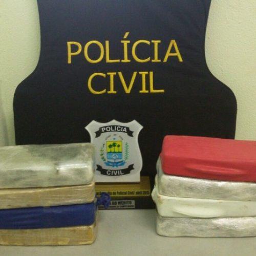 Polícia prende dupla e apreende 8kg de crack no Piauí