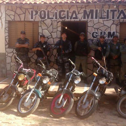 Polícia Militar de Simplício Mendes apreende armas e recupera motos roubadas