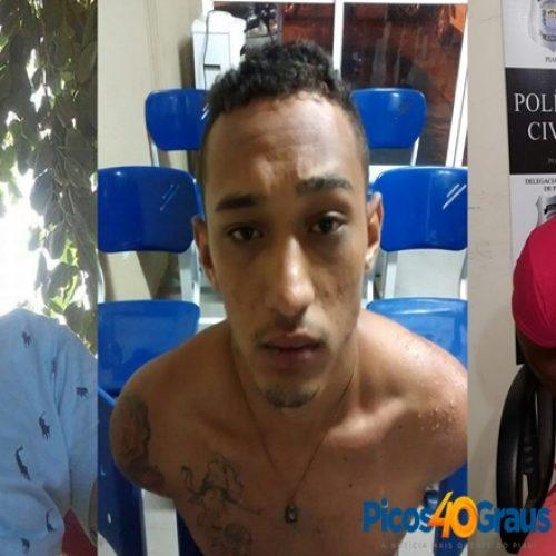 Polícia Civil de Picos prende três por envolvimento em latrocínio de funcionário da Moto Moura