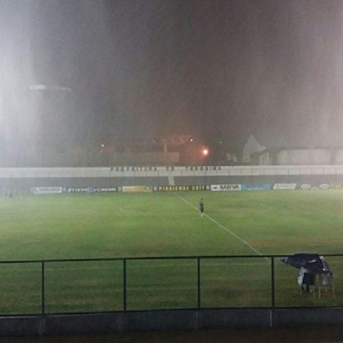 Chuva adiou o jogo Piauí e Altos pelo Campeonato Piauiense