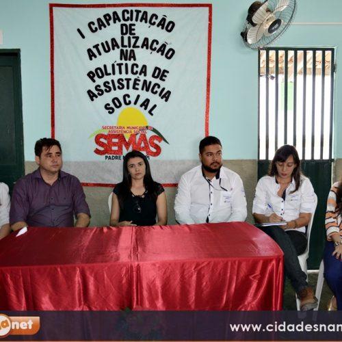 PADRE MARCOS | Município realiza a capacitação para equipe da Assistência Social