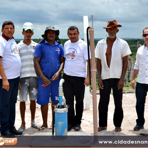 JAICÓS | Neném de Edite visita obra de abastecimento de água que beneficiará 50 famílias na localidade Santana III