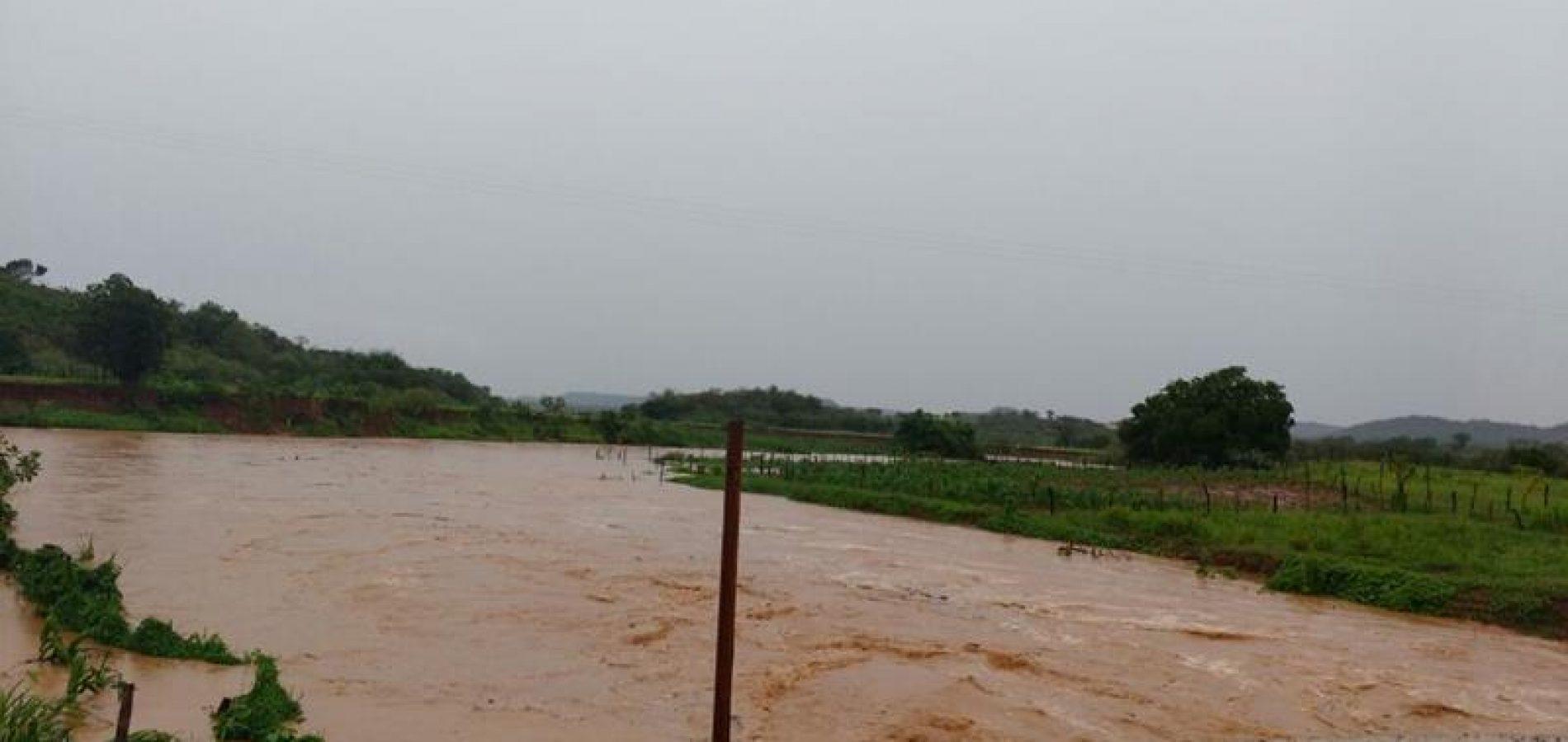Rio Guaribas registra maior enchente dos últimos anos; veja fotos