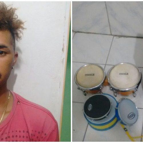Polícia de Simões prende arrombador de escola no povoado Monte Santo