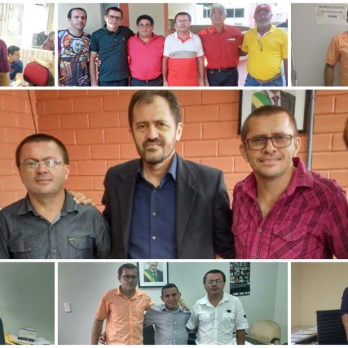 Lideranças do PT de Francisco Macedo visitam secretarias estaduais em busca de investimentos para o município