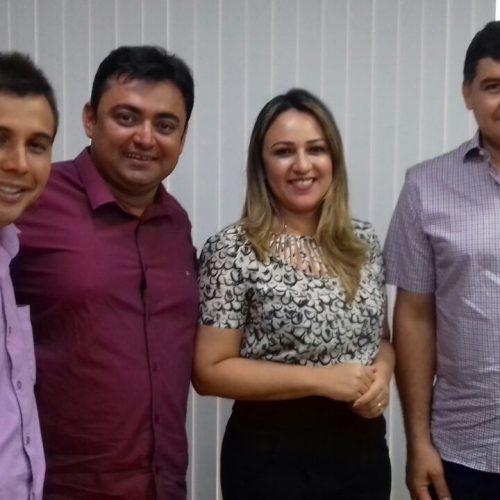 ALEGRETE | Márcio Alencar e Iago Sousa reúnem se com a deputada Rejane Dias em busca de ações para a Cultura