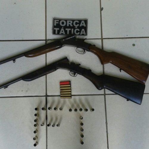 Força Tática de Paulistana apreende duas armas de fogo no interior de Jacobina