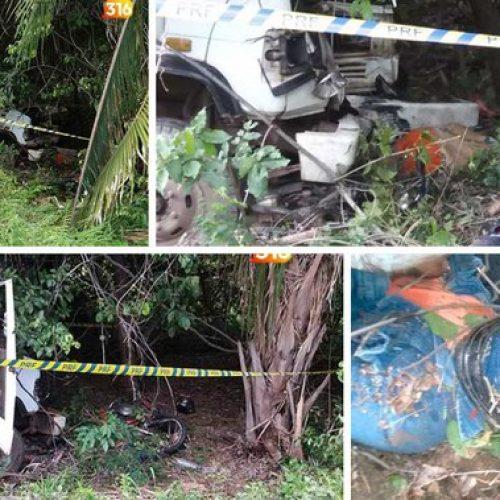 Caminhoneiro reage a assalto, atropela e mata quatro pessoas na BR-316