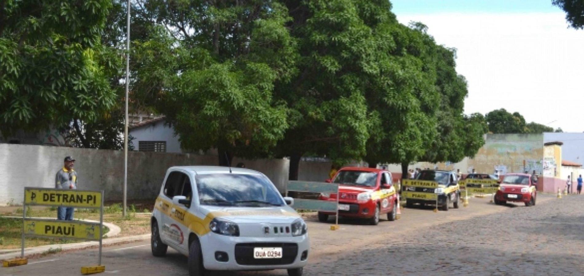 Detran vai realizar 3.400 provas práticas em 10 municípios do Piauí