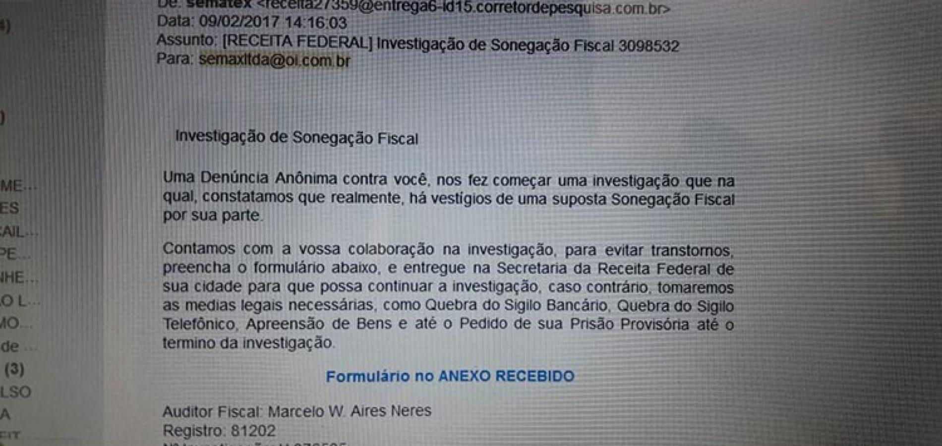 Receita Federal alerta para golpe de falso e-mail no Piauí