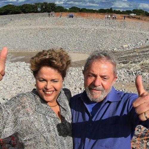 Wellington, Lula e Dilma participam de inauguração popular da transposição do Rio São Francisco na Paraíba