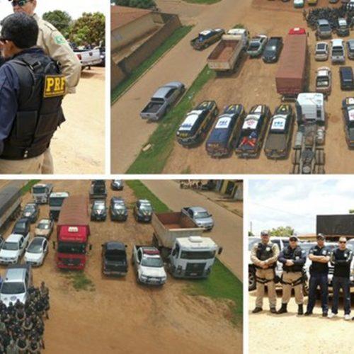 Operação integrada apreende 23 veículos roubados e armas em 10 cidades do PI
