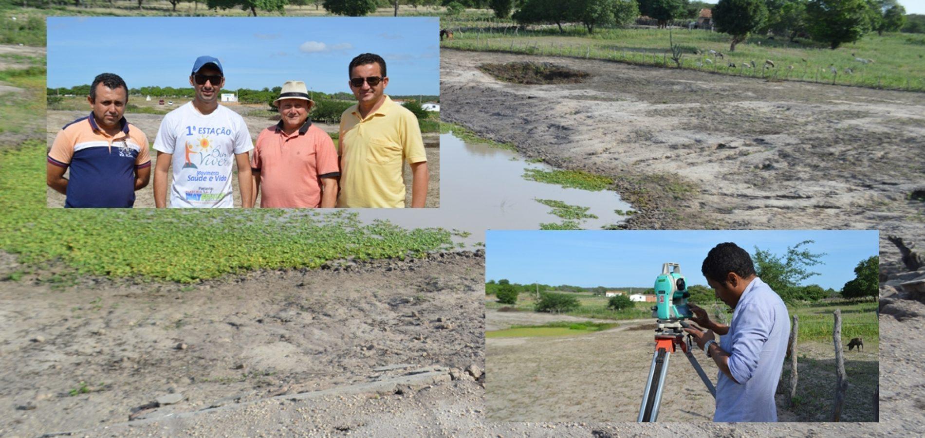 Município de Vila Nova recebe engenheiro da Planacom para elaborar projeto da recuperação do barreiro do Retiro