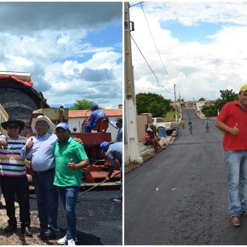 Prefeitura de Alegrete do Piauí inicia obras de 3,5 km de pavimentação asfáltica de ruas e avenidas