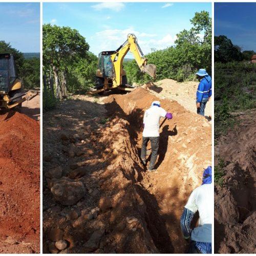 Prefeito visita obras de abastecimento de água no interior de Massapê do Piauí