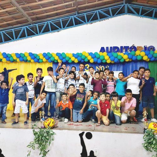 Escolinha Renascer de Francisco Macedo comemora aniversário de 3 anos; fotos