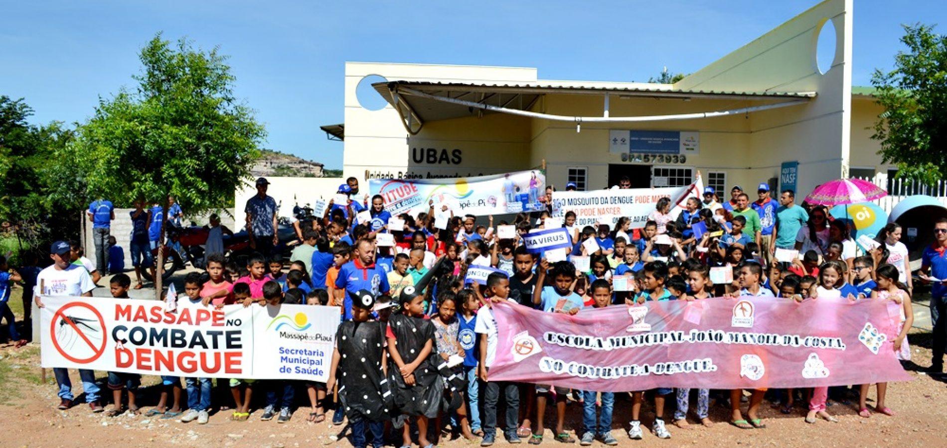 Massapê do Piauí realiza mobilização de combate ao mosquito 'aedes aegypti'; veja fotos