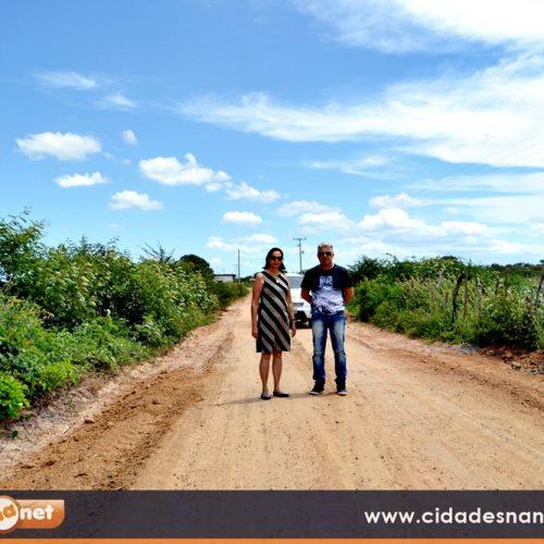 FRONTEIRAS | Prefeita visita obras de reformas de mais de 100 km de estradas vicinais na zona rural