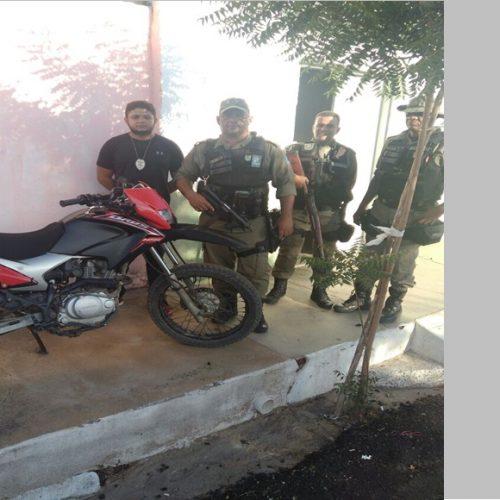 Polícia Militar de Alegrete recupera motocicleta roubada da cidade de Inhuma