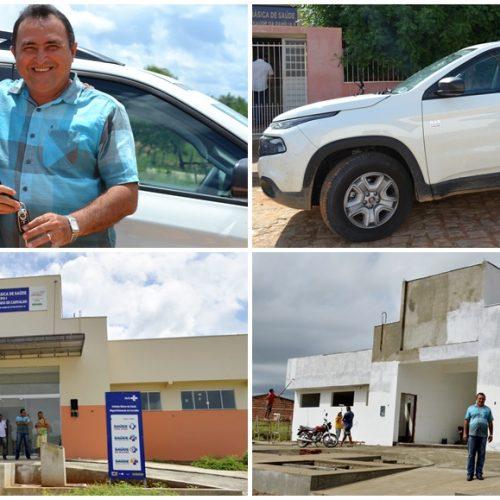 PATOS | Governo Municipal investe na área da saúde; prefeito entrega carro novo, constrói e vai equipar três UBS