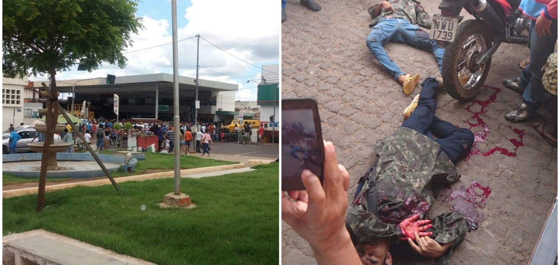 Assaltante é morto e outro baleado em tentativa de assalto a posto no Centro de Picos