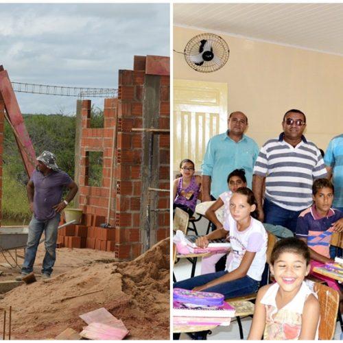 PATOS | Prefeito Agenilson visita obras do balneário e vistoria reforma de escola em povoado