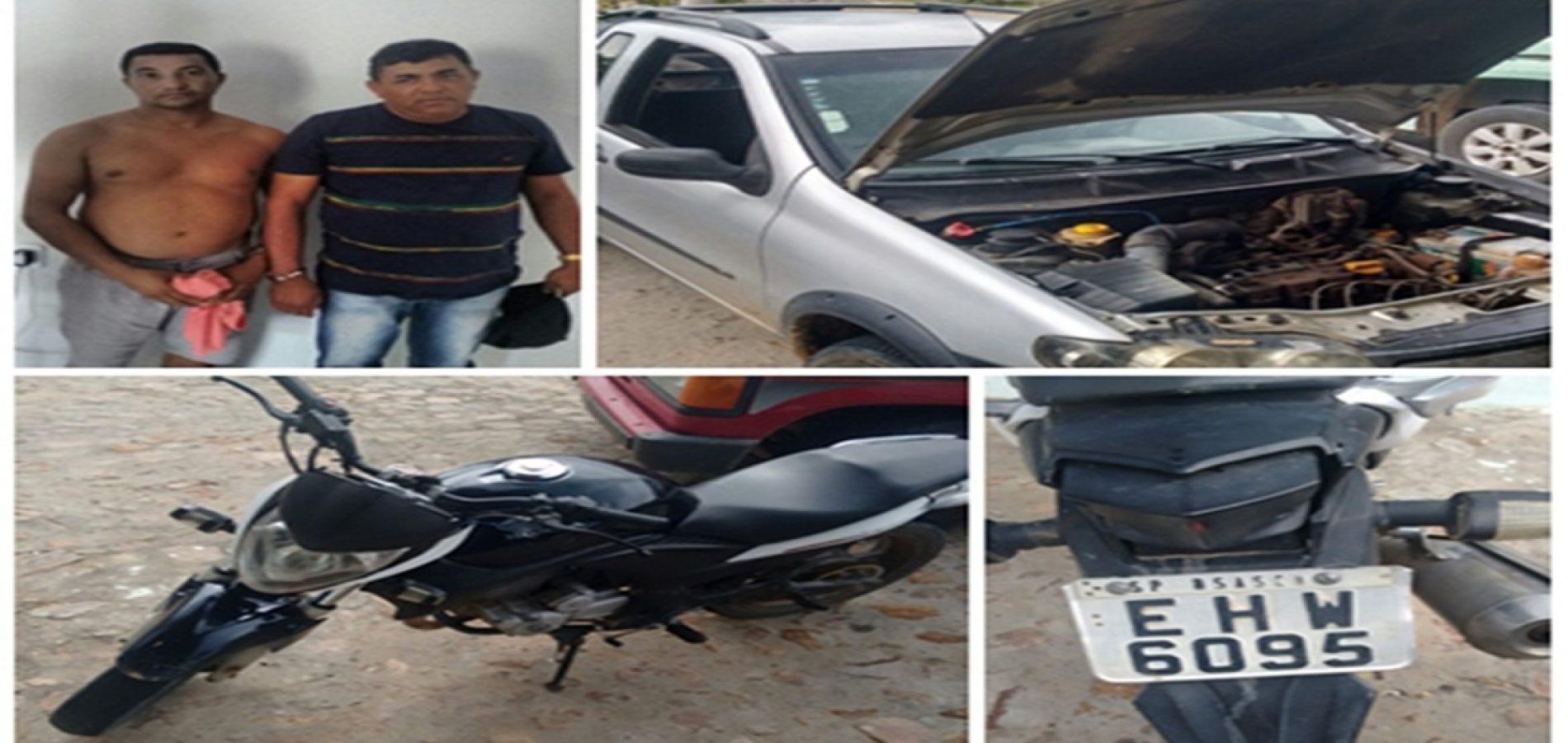 Polícia recupera produtos roubados e prende acusados de arrombar residências no interior de São Julião