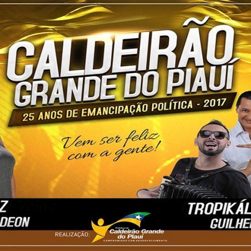 Festividades do aniversário de 25 anos de Caldeirão Grande do Piauí tem início hoje (28)