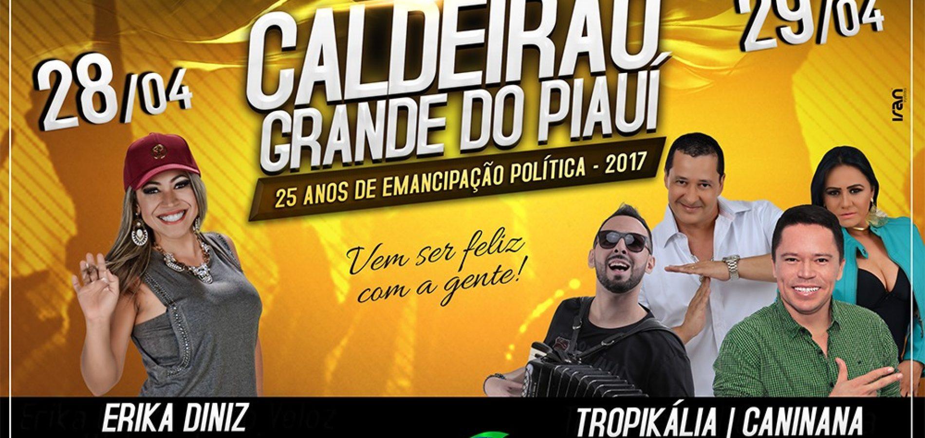 Prefeitura de Caldeirão Grande divulga programação completa do aniversário de emancipação política