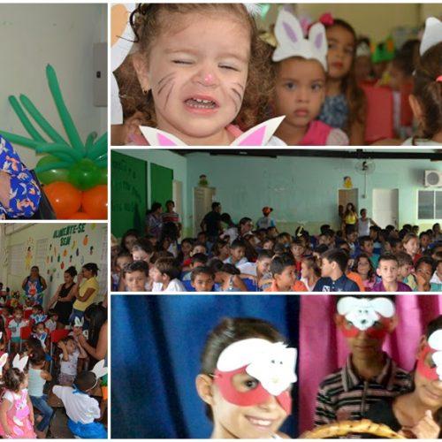 FRONTEIRAS   Escolas da sede e do campo comemoram a Páscoa com atividades lúdicas; veja imagens