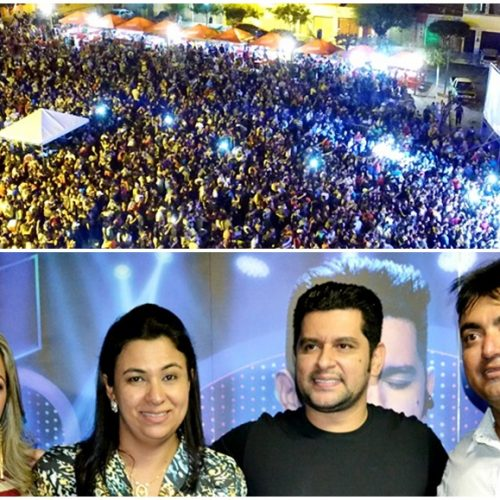 Prefeito Márcio Alencar realiza maior show da história com Léo Magalhães e atrai multidão no 25º aniversário de Alegrete; veja fotos