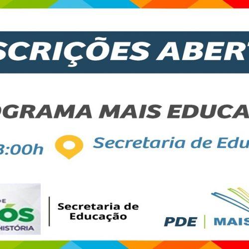 JAICÓS   Secretaria de Educação seleciona monitores para Programa Mais Educação; veja o edital