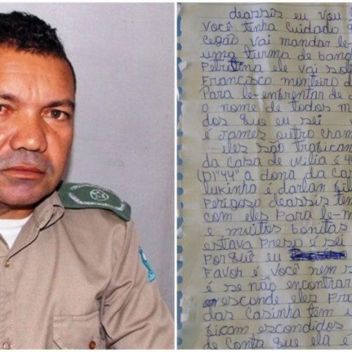 Tenente de Marcolândia recebe ameaças de presidiários