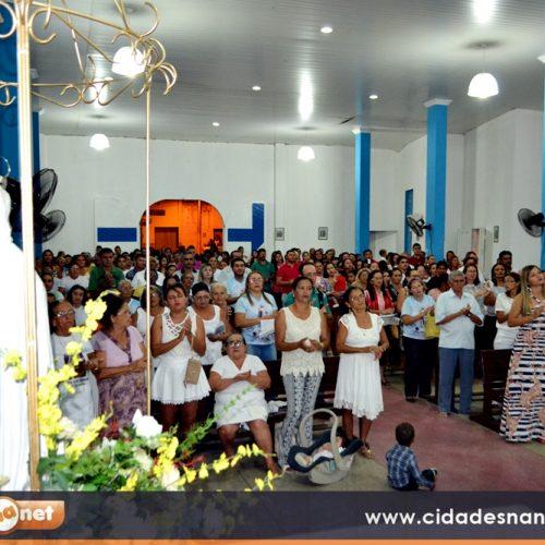 Dizimistas e a comunidade celebram a 4ª noite dos festejos de Nossa Senhora de Fátima em Alegrete