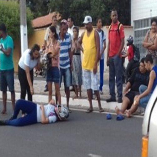 Pai e filha ficam feridos após se envolverem em acidente no Piauí