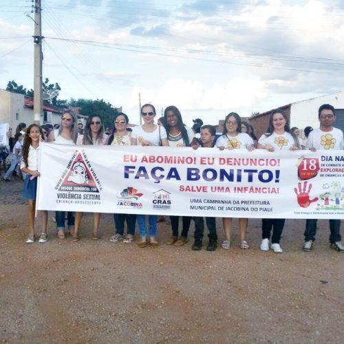 Jacobina do Piauí realiza campanha contra o abuso e à exploração sexual de crianças e adolescentes