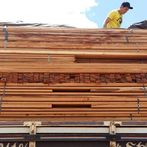 PRF apreende 30m³ de madeira ilegal com origem no Pará