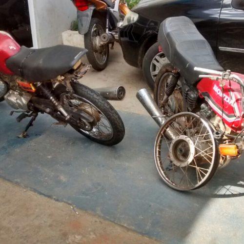Polícia Militar flagra desmanche de motos em Picos